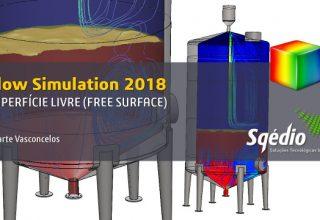Como simular a descarga de um reservatório no Flow Simulation 2018