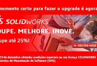 Poupe até 25% na sua nova licença SOLIDWORKS!