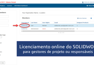 Licenciamento online do SOLIDWORKS